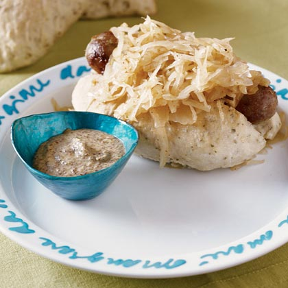 Barnum Bratwurst Bread with Choucroute Tumble