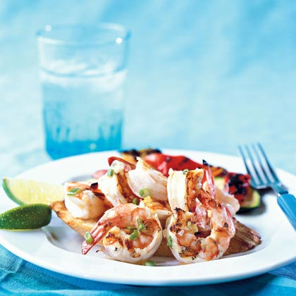 Grilled Lime Scampi