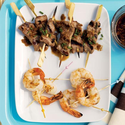 Javelin Throw: Ginger Beef Mini Skewers
