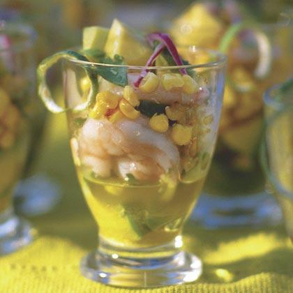 Cold Marinated Shrimp and Avocados