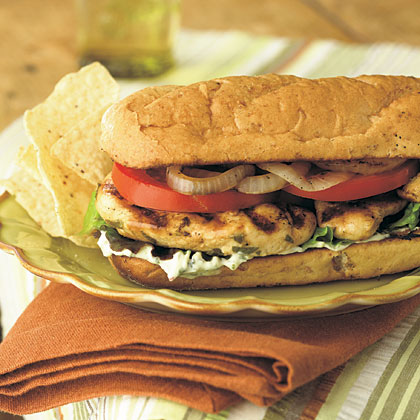 Grilled Chicken Mojito Sandwiches