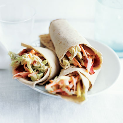Ham and Pineapple Slaw Wraps