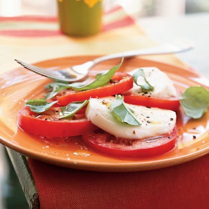 Tomato, Fresh Mozzarella, and Basil Salad