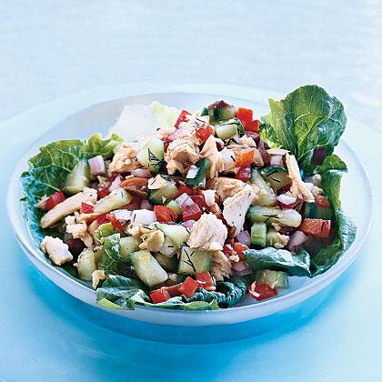Salmon Salad with Dill Vinaigrette