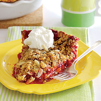 Sour-Cherry-Almond Crumb Pie