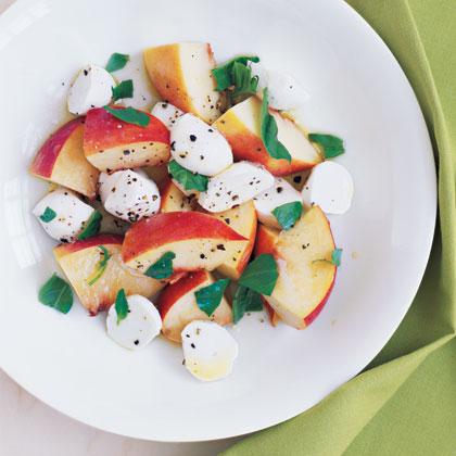 Peach, Mozzarella, and Basil Salad