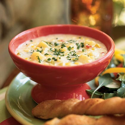 Potato, Corn, and Leek Chowder