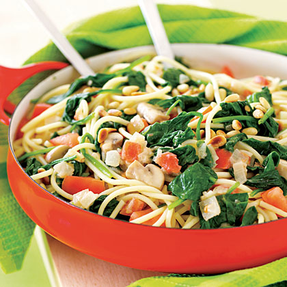 Wilted-Spinach Spaghetti