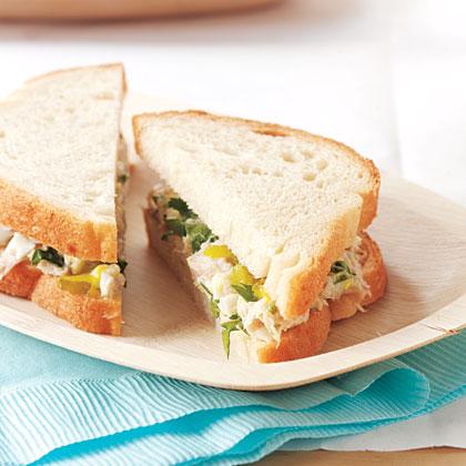 Pickled Tuna-Salad Sandwiches