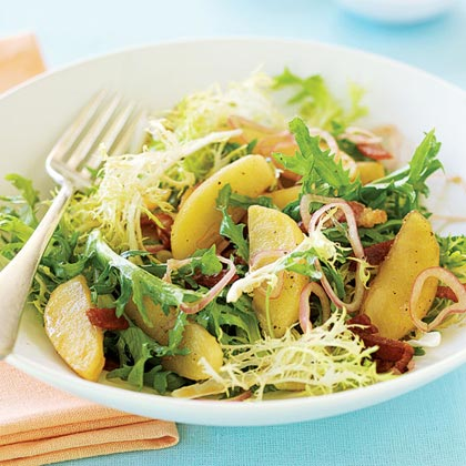 Roasted Apple, Bacon, and Frisée Salad