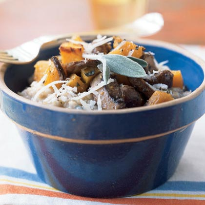 Steel-Cut Oat Risotto with Butternut Squash and Mushrooms