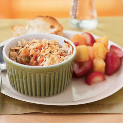 Shrimp Potpies with Oyster Cracker Topping