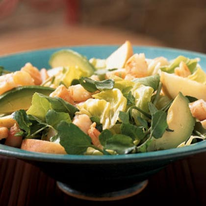 Poached Shrimp Salad with Cider Dressing