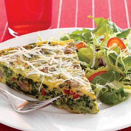 Spinach-Sausage Frittata