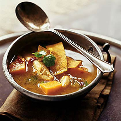 Chicken and Sweet Potato Soup with Chile and Lime