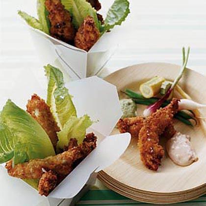 Caesar-Crusted Crispy Chicken Strips