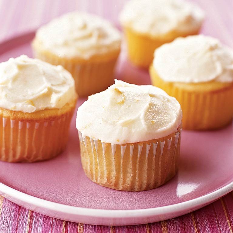 Orange Marmalade-Ricotta Cupcakes with Marmalade Buttercream Frosting