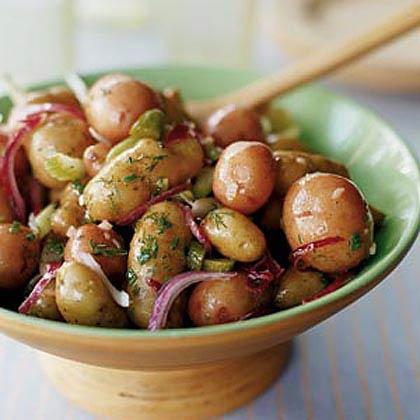 Fingerling Potato Salad with Cornichon Vinaigrette