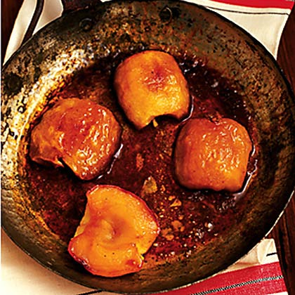 Roasted Apples with Buttermilk Custard Sauce