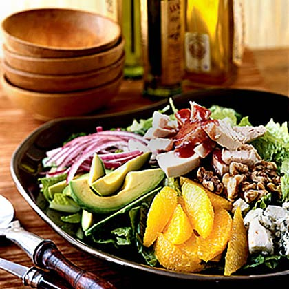Chopped Turkey Salad with Cranberry Vinaigrette