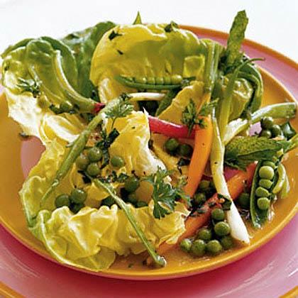 Salad of Spring Vegetables with Green Pea Vinaigrette