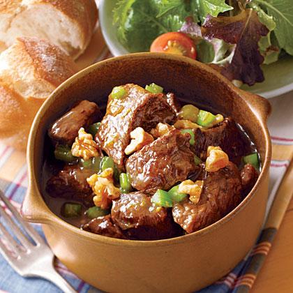 Beef Stew with Walnuts and Orange Zest