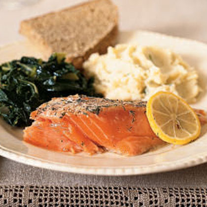 Roasted Wild Salmon and Dill