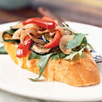Open-Faced Jerk Vegetable Sandwiches