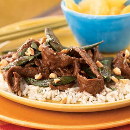 Stir-Fried Szechuan Steak on Rice