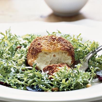 Crispy Warm Goat Cheese Salad