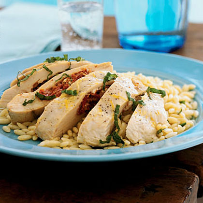 Feta, Herb, and Sun-Dried Tomato-Stuffed Chicken