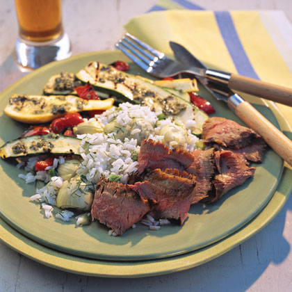 Grilled Vegetables With Pesto