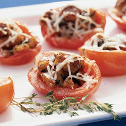 Herbed Bread-Stuffed Tomatoes