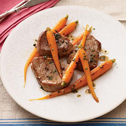 Honey-Glazed Pork Tenderloin and Carrots
