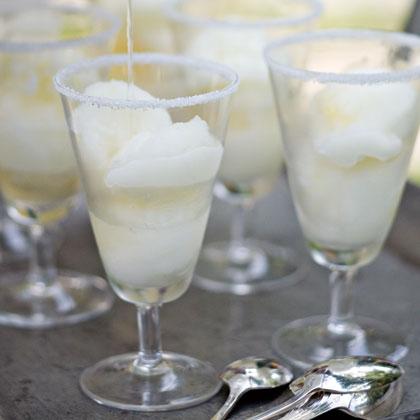 Lime Sorbet Margaritas