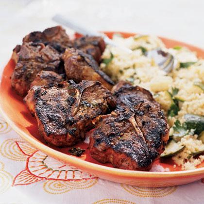 Cumin, Honey, and Mint-Marinated Lamb Chops