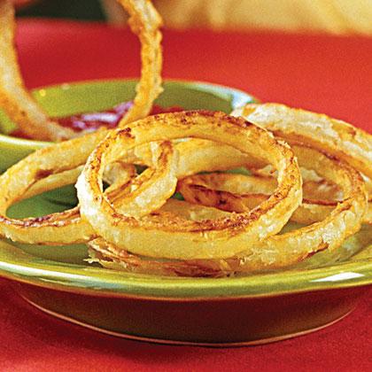 """Crispy """"Fried"""" Onion Rings"""