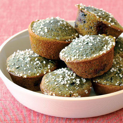 Blue Corn-Blueberry Muffins