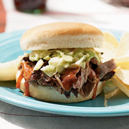 Memphis Pork and Coleslaw Sandwich