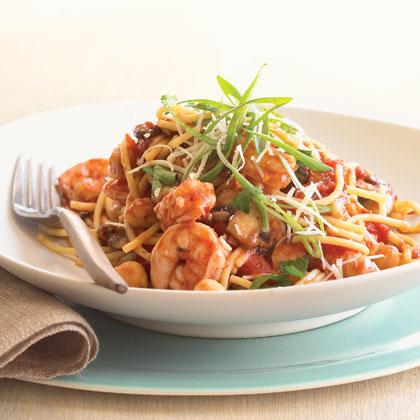 Shrimp and Chickpea Pasta