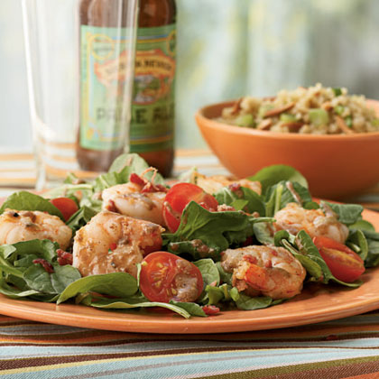 Bacon, Arugula, and Shrimp Salad