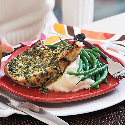 Pork Chops With Herb-Mustard Butter
