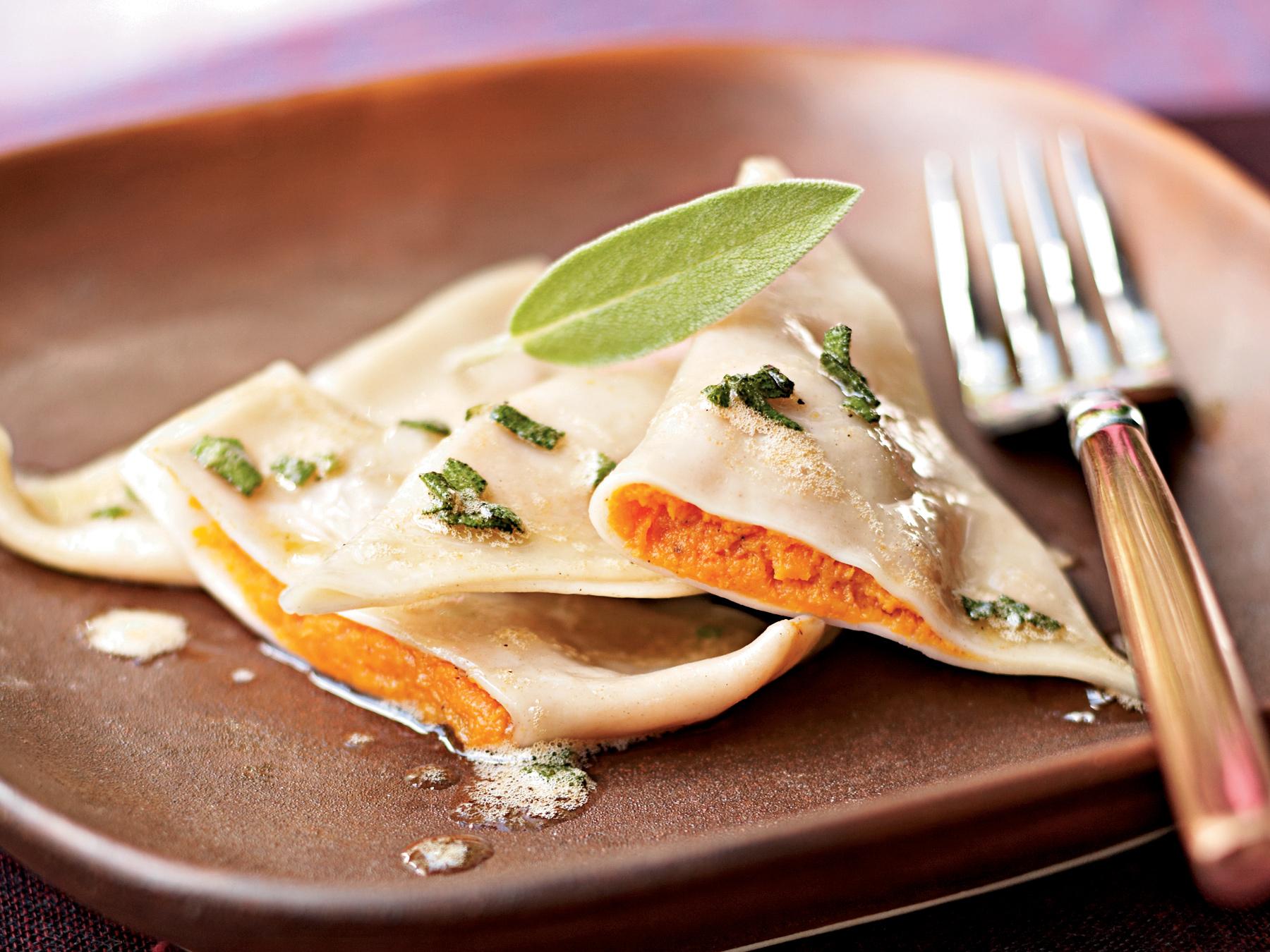 Sweet Potato Ravioli with Lemon-Sage Brown Butter