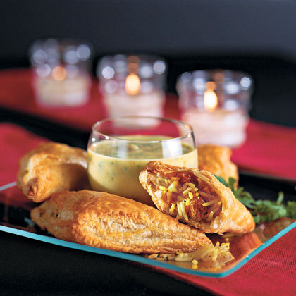 Indian Baked Chicken Pockets