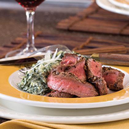 Pan-Seared Flat Iron Steak