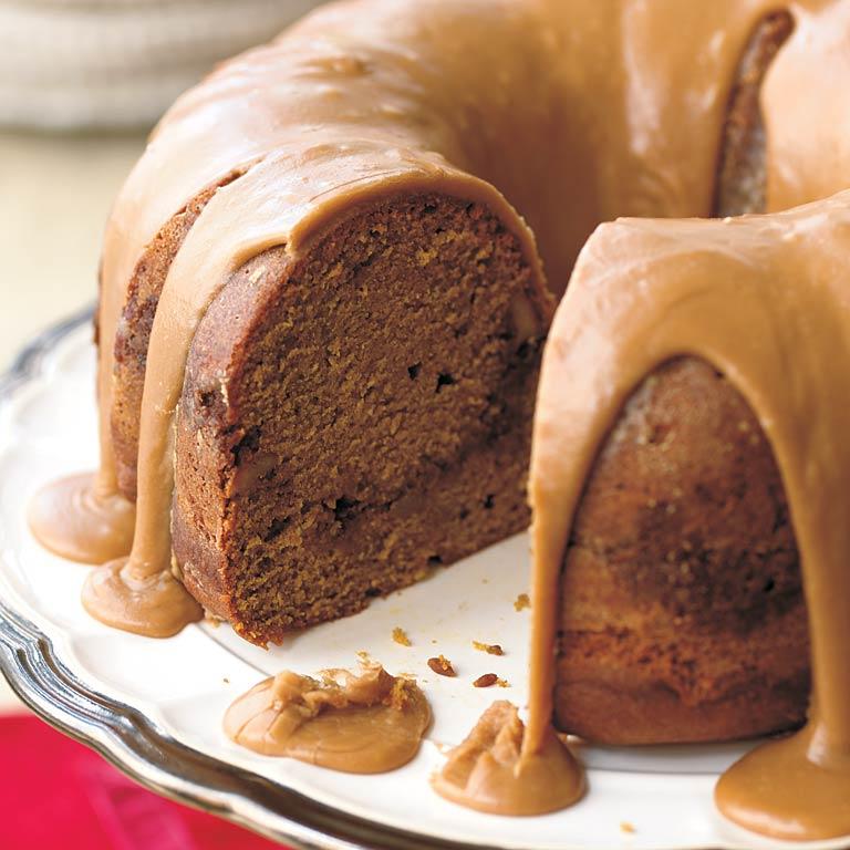 Pumpkin-Rum Cake with Brown Sugar Icing