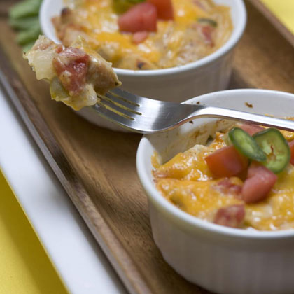 Mini Light King Ranch Chicken Casseroles