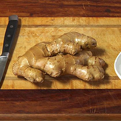 Preparing Fresh Ginger