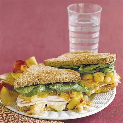 Turkey, Brie and Pear Sandwiches