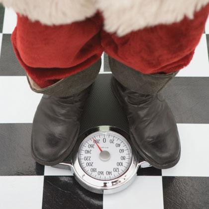 Santa on scale